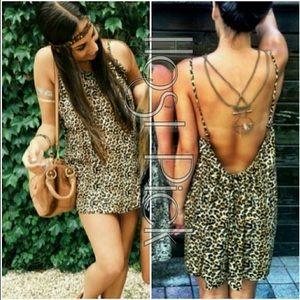 LF | Animal Leopard Print Sun Dress XS